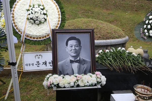 조봉암 선생 58주기 추모제. 2017년 7월 31일 서울 망우리묘역. (사진제공 새얼문화재단)