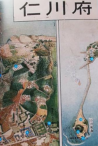 인천 지도  책 속에는 1930년대 인천의 뒷골목까지 상세히 그려놓았다