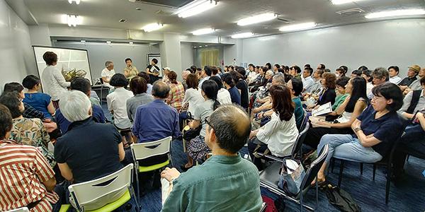 강연장 강연장을 가득메운 일본인들