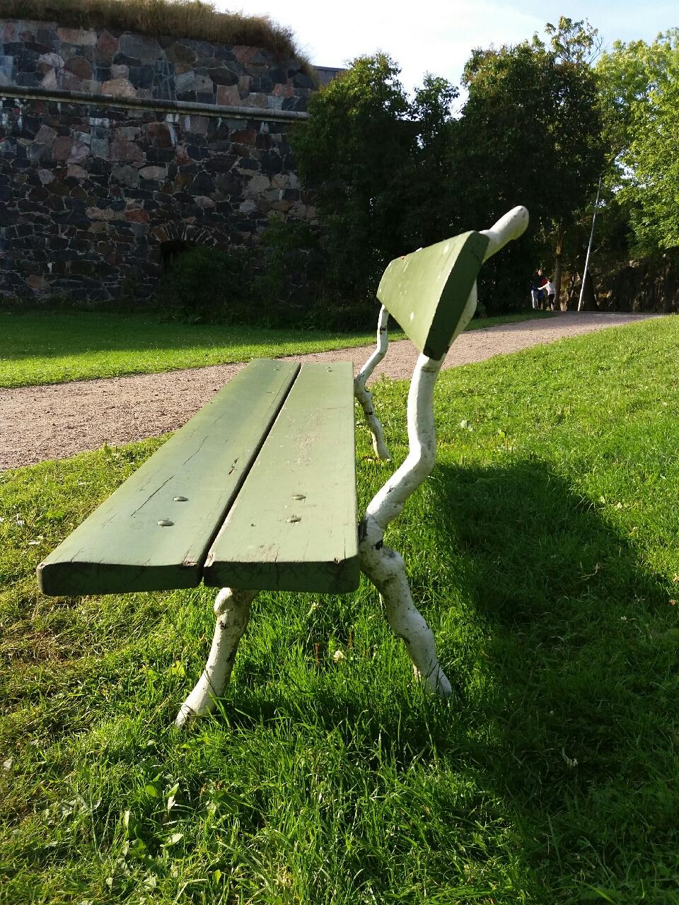 공원의 의자 오후 빈 의자