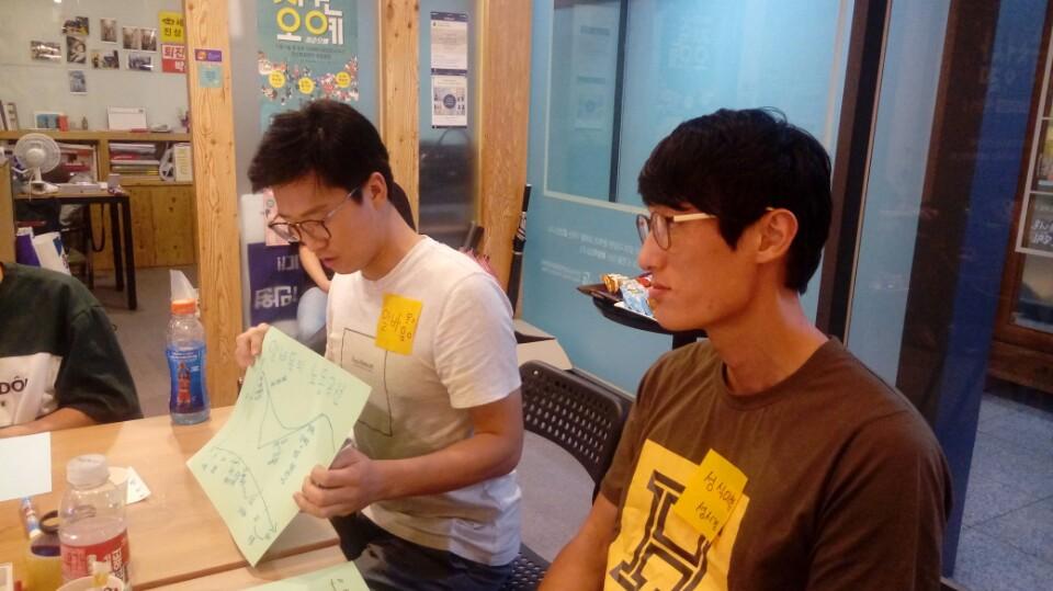 알쓸청삶-청년노동1 안산청년들이 모여 자신들의 노동이야기를 나누고 있다.