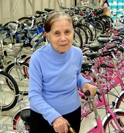 자전거 매장에서 앞에서