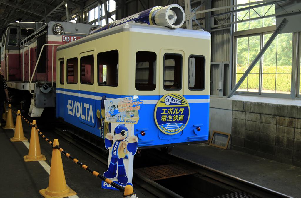 에볼타전지철도 고사카철도레일파크에 전시되어 있는 에볼타 전지철도