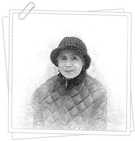 어느 작가가 선물해준  어머니 스케치 모습