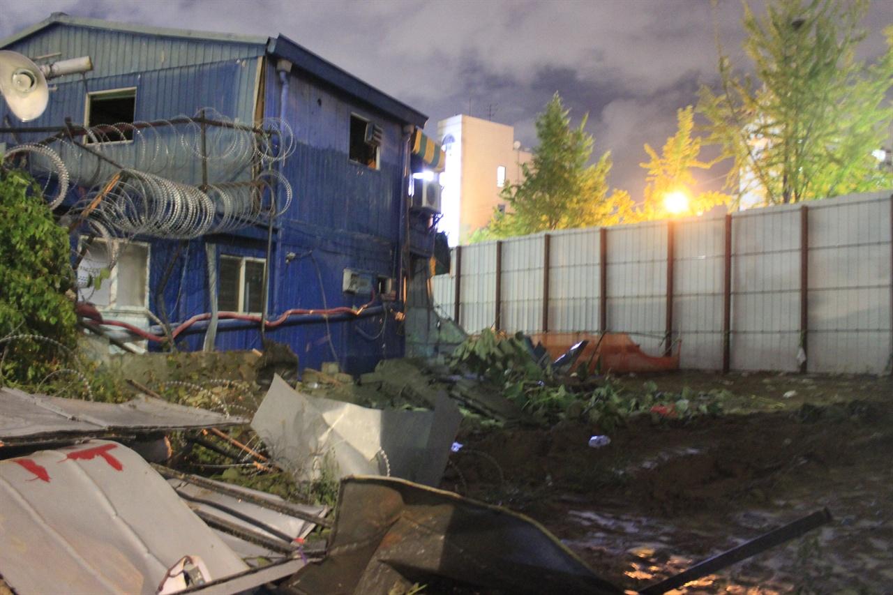 송파상운이 32개월동안 사용할 땅. 왼쪽의 건물은 송파상운 사무실이다.