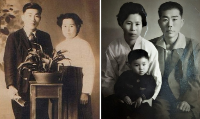 부모님 사진과 가족사진