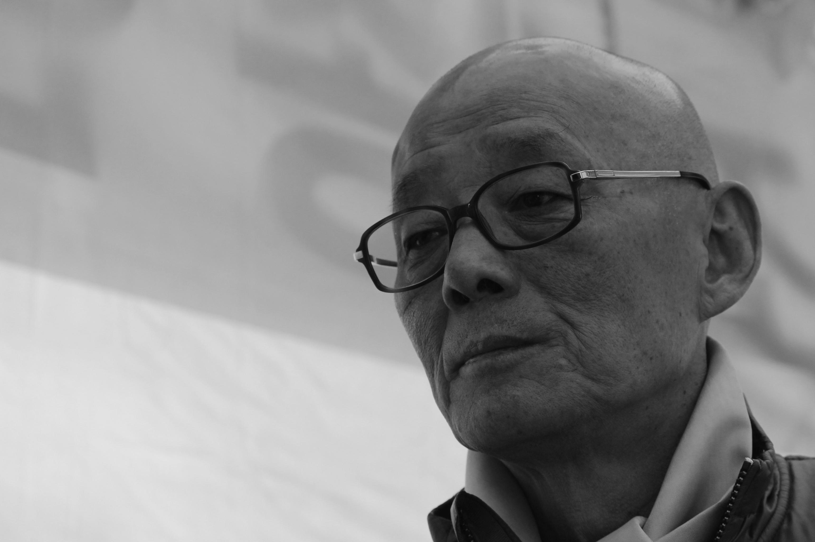 서울 조계사 앞에서 불교 적폐청산을 외치며, 단식 농성중인 명진 스님