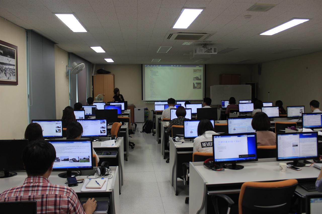 서산시 위키백과 협업 프로젝트의 일환으로 개최된 에디터톤의 모습.