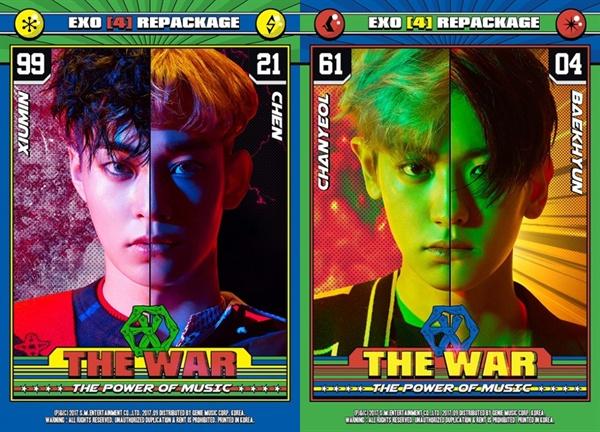 엑소의 정규 4집 < The War > 리패키지 멤버별 콘셉트 이미지.