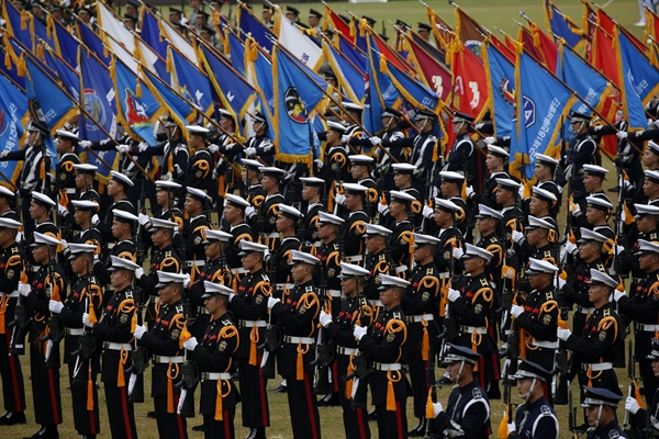 2016년 10월 1일 계룡대에서 열린 건군 제68주년 국군의날 기념식 모습