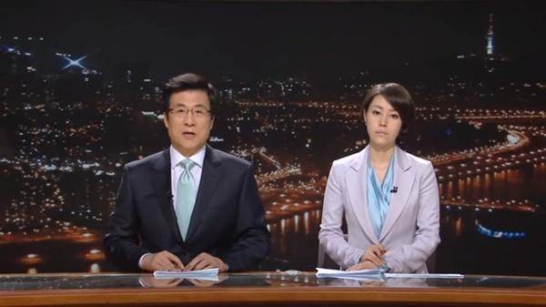 2009년 4월 MBC <뉴스데스크>를 마지막으로 진행했던 신경민 앵커.