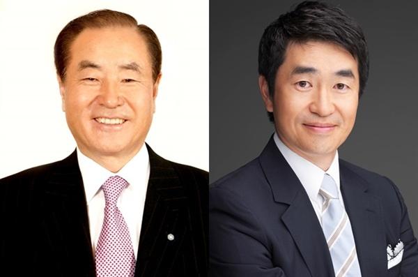 SBS 미디어그룹 윤세영 회장과 아들 윤석민 부회장.