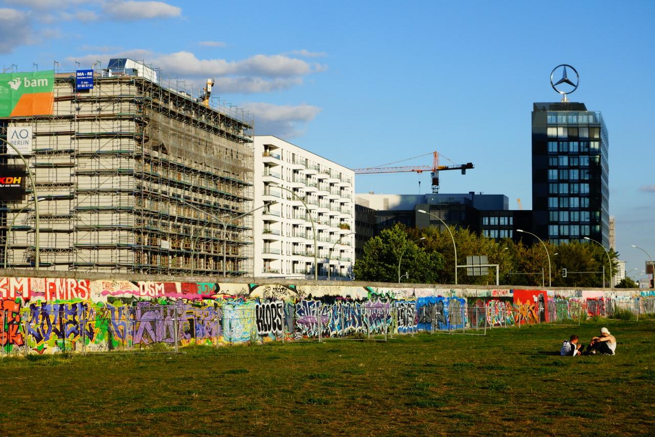 동서독을 갈랐던 베를린 장벽의 일부