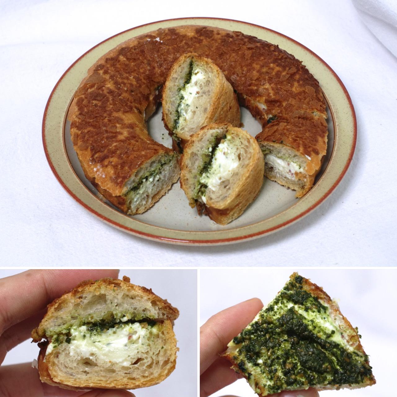 은근히 인기가 많은 빵. 바질이 역시 특징이다.