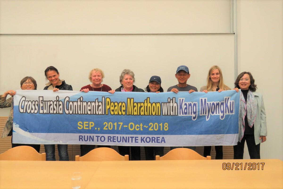 국제평화분과위원회 세미나에 참석하여 9월 21일은 유엔 평화의 날이다 베를린의 훔볼트대학에서 열린 국제평화분과위원회 세미나에 참석하여 주제발표자와 함께