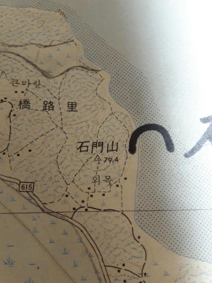 1990년도에 발행된 국토지리정보원 지도 '왜목'이 아닌 '외목'으로 표기되어 있다.