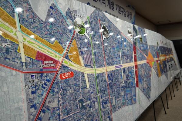 경인고속도로 일반화 및 주변지역 개발 기본구성 '경인고속도로 일반화 사업' 설명도.