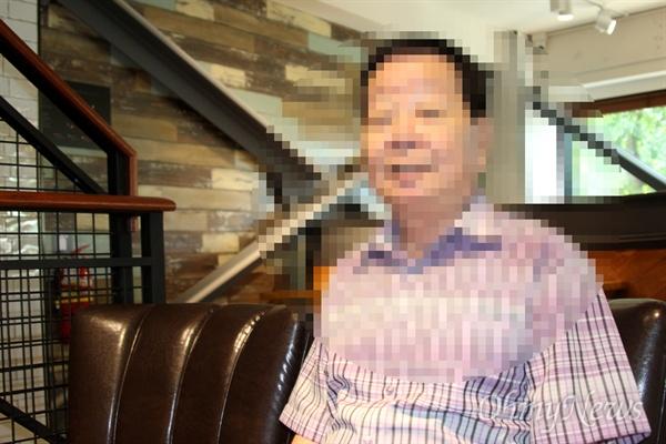 선감학원 피해자 김철화(67세, 가명)씨.