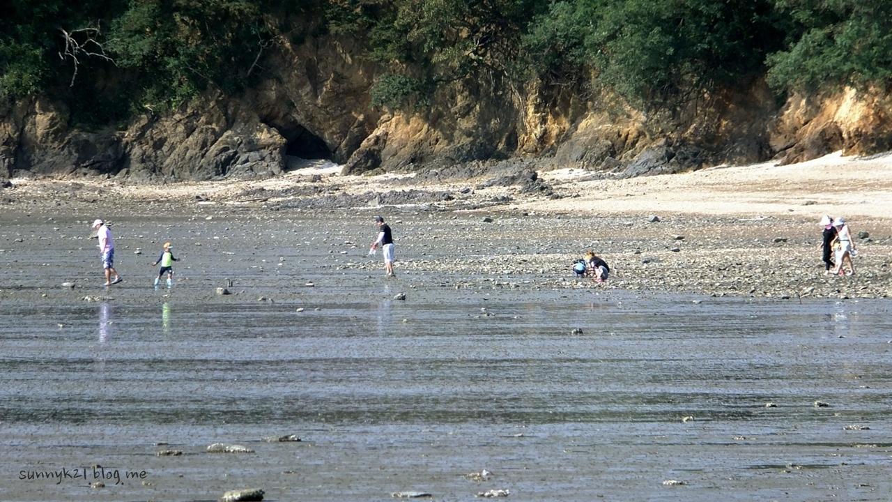 하루 두 번 썰물때면 재밌는 갯벌체험을 할 수 있는 선재도.