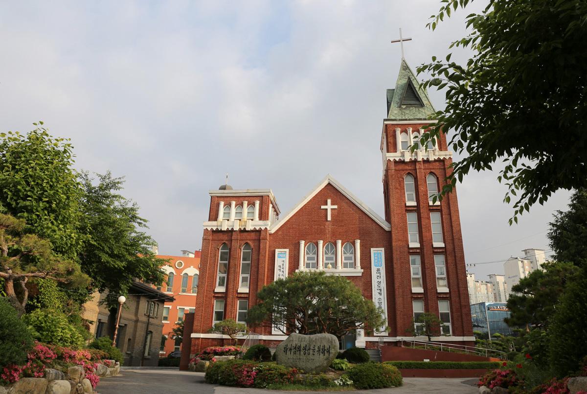 양림교회 전경. 세워진 지 100년이 넘은 교회다. 미국 선교사들에 의해 세워졌다.