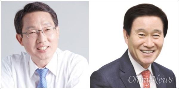내년 지방선거에서 자유한국당 대구시장 후보로 거론되는 김상훈 의원과 곽대훈 의원.