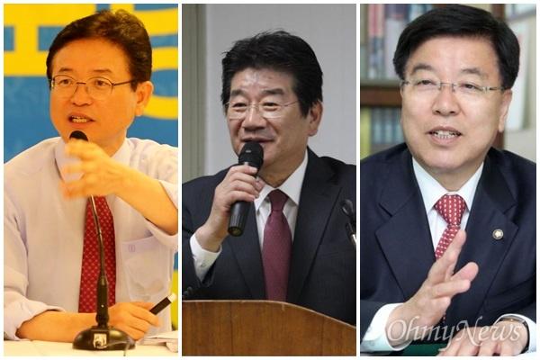 내년 지방선거에서 자유한국당 경상북도지사 후보로 거론되는 이철우, 강석호, 김광림 의원.