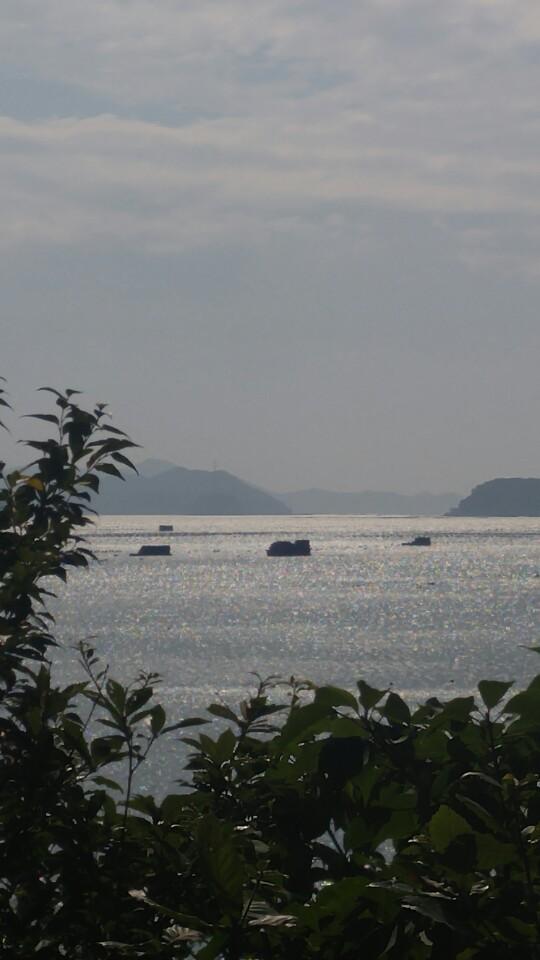 드라이브 코스로 유명한 '서부해안도로'에서 바라본 해남 땅끝쪽 다도해.