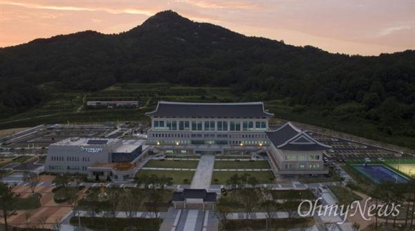 경북 안동시에 있는 경북교육청 전경.