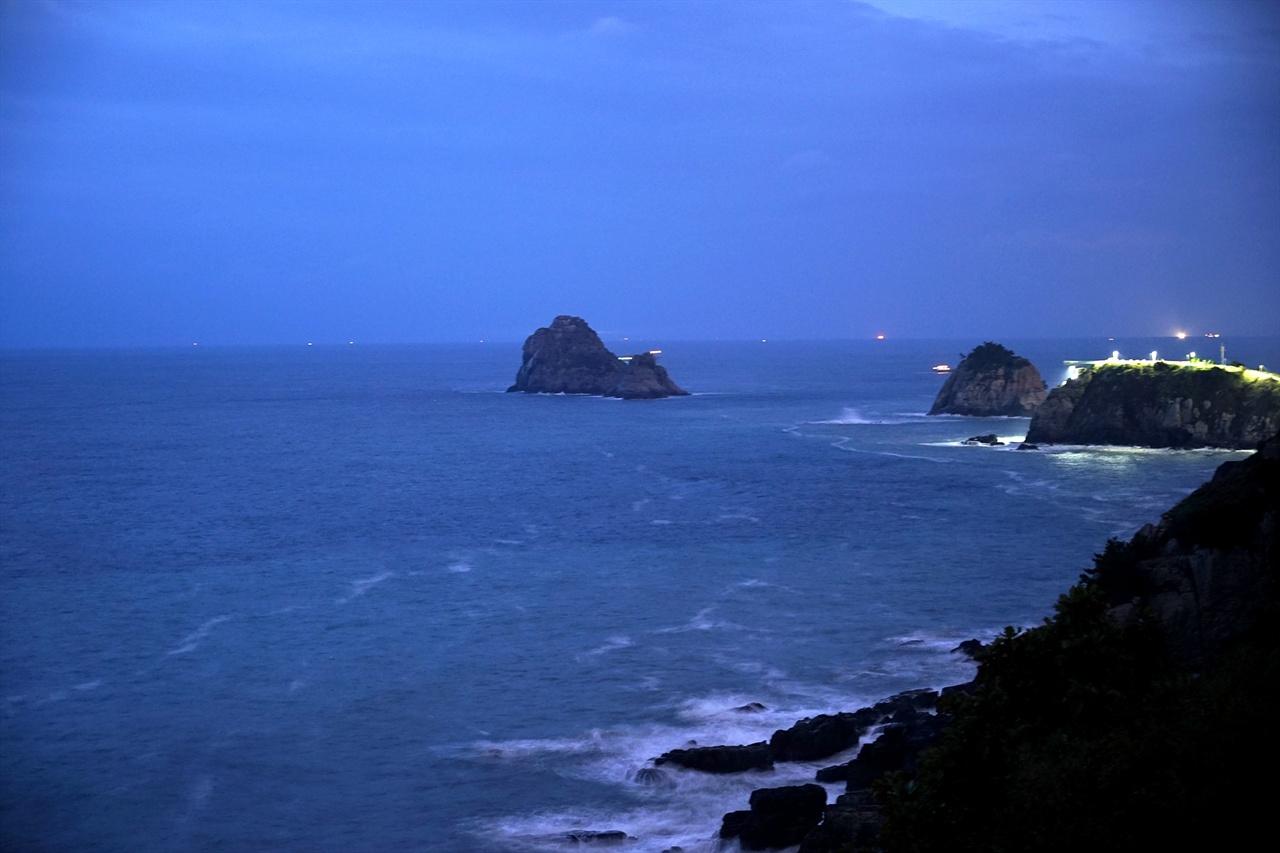 새벽 오륙도 풍경