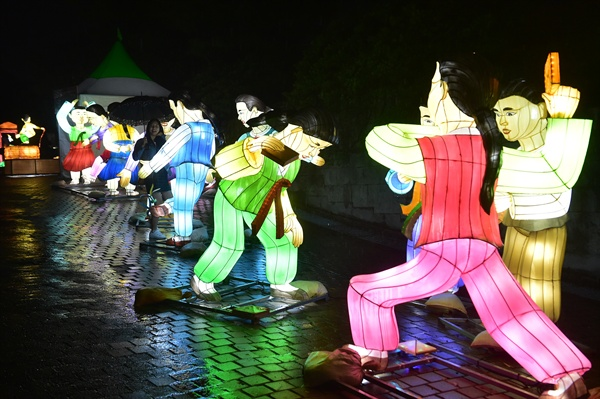 진주남강유등축제.