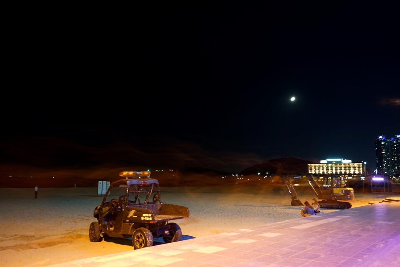 해운대해수욕장의 밤 풍경