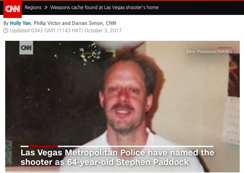 라스베이가스 총기사고는 64세의 회계사 스티븐 패독이 저질렀다.