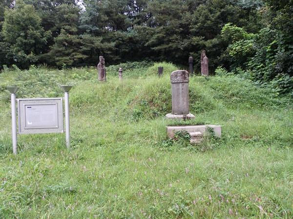 김상헌 묘소.
