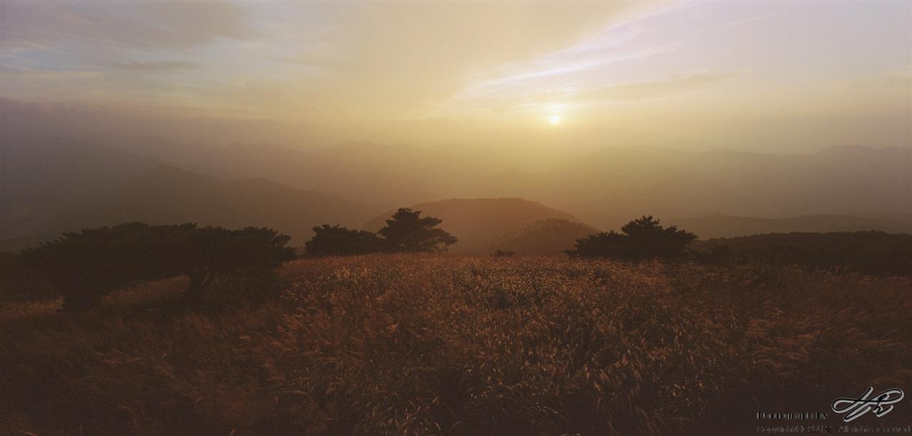 해질녘 민둥산에서 (SW612/Portra800)해가 지고나면 본격적으로 산의 밤 나절이 시작된다.
