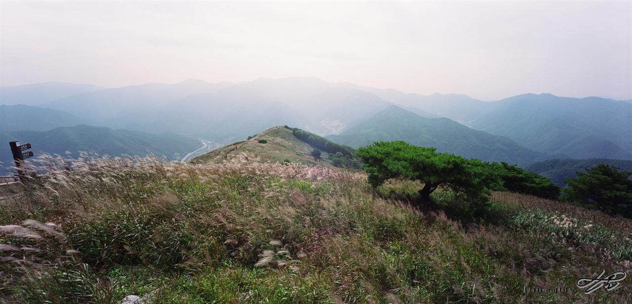 남쪽 풍경 (SW612/CT100)서쪽 데크 구석에 서서 남쪽을 바라보고 담은 사진. 황사 때문에 하늘이 뿌옇다.