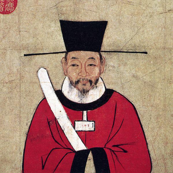 사마광 상상화. 대만(타이완)의 국립고궁박물원에 전시된 그림.