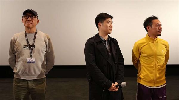 (왼쪽부터) 장자전 프로듀서, 주전 감독, 주연 장송원.