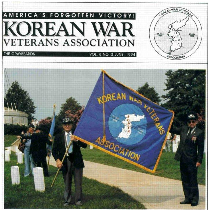 전미 한국전참전베테랑협회(U.S. KWVA)가 발행하는 잡지 <그레이비어즈>(Graybeards) 6권 표지 사진. 베테랑협회는 이 사진을 로고처럼 사용하고 있다. ⓒKWVA
