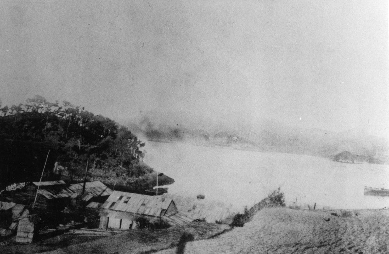 1917년 발행된 <전남사진지>에 실린 '대흑산도 예촌 포경근거지' 사진. 예촌은 지금의 전남 신안군 흑산면 예리이다.