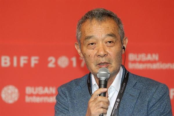 지난 20일, 부산 영화의전당 두레라움홀에서 열린 <상애상친> 기자회견에 참석한 티엔 주앙주앙