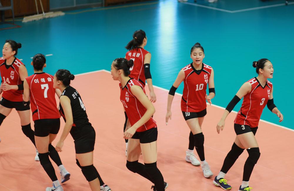 선명여고 선수들... 제98회 전국체육대회 경기 장면(2017.10.23)