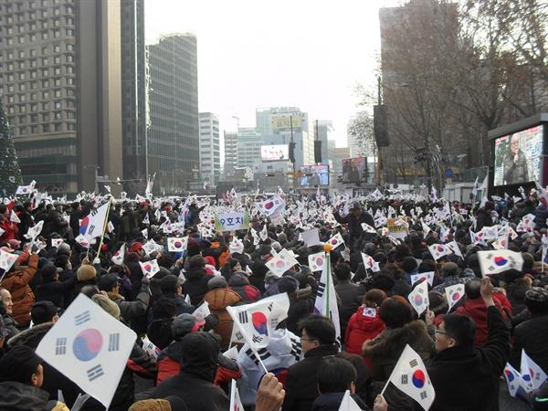 2016년 연말의 친박 집회.