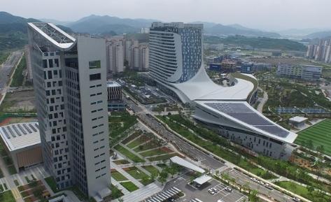 진주혁신도시내 공공기관이 들어서 있다.