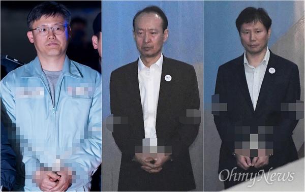 '문고리 3인방'  정호성, 이재만, 안봉근.