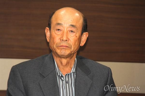 일제 강제징용 피해자를 아버지로 두었던 유족 김수웅(거창)씨.
