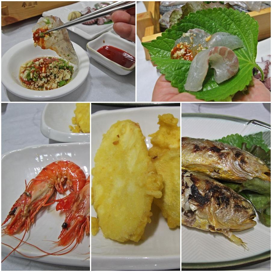여수바다횟집의 다양한 해산물이 입맛을 유혹한다.