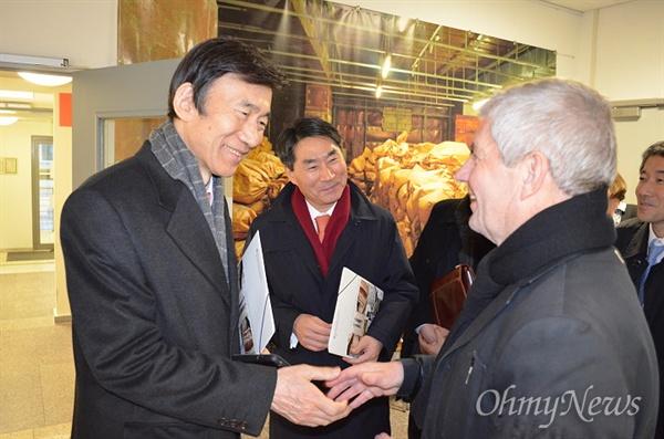 지난 2015년 2월 6일 윤병세 외무부 장관이 독일 연방슈타지기록소를 방문했다.