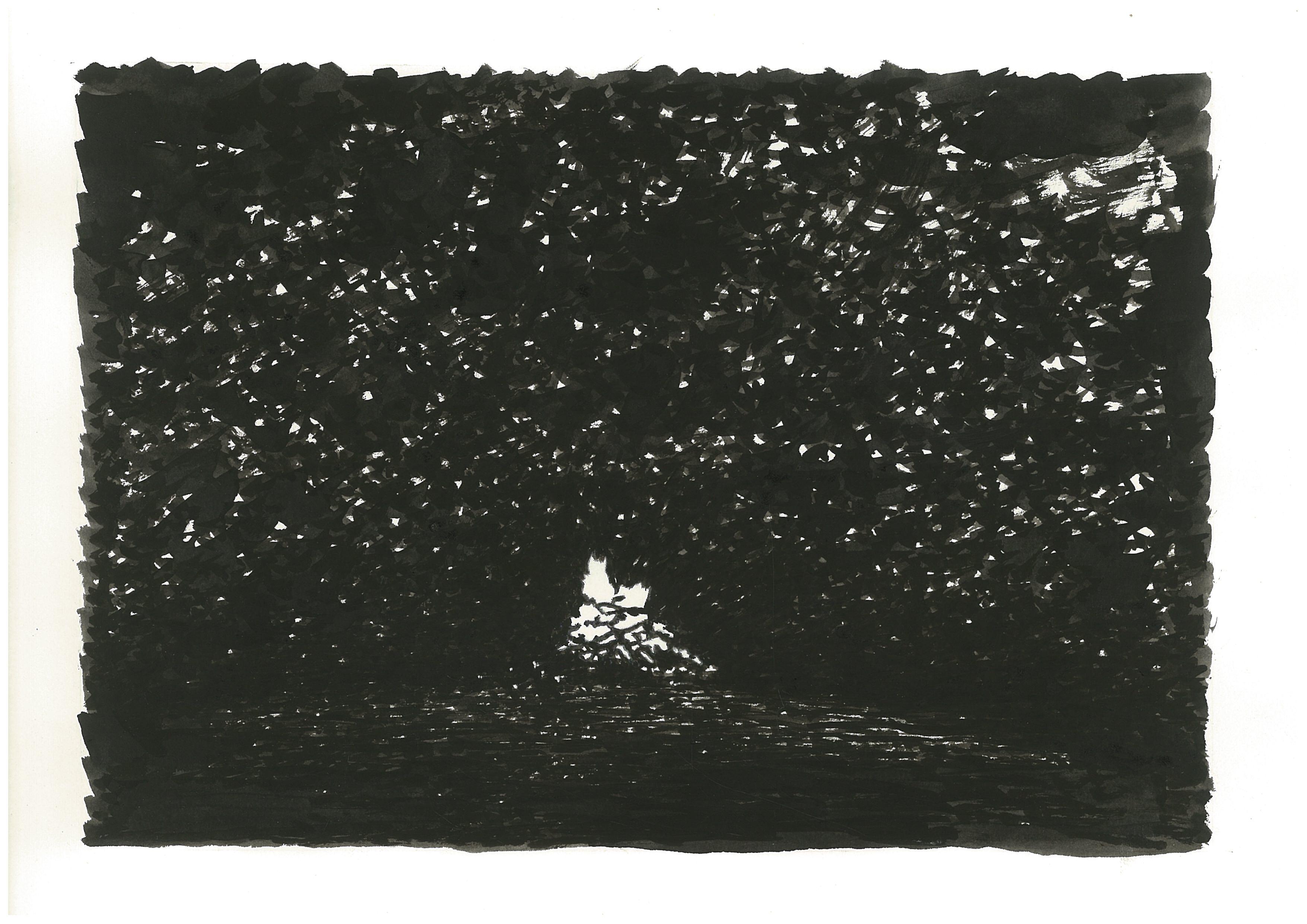 백기완 소장이 경향신문에 연재했던 '하얀 종이배'에 함께 실렸던 신학철 화백의 그림.(모닥불)