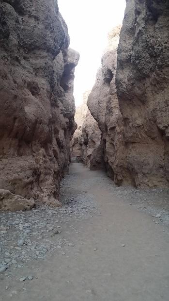 지층을 이루고 있는 세슬림캐년 길이는 50m 내외로 깊지 않고, 길이도 1km 정도에 불과한 작은 게곡이었다.