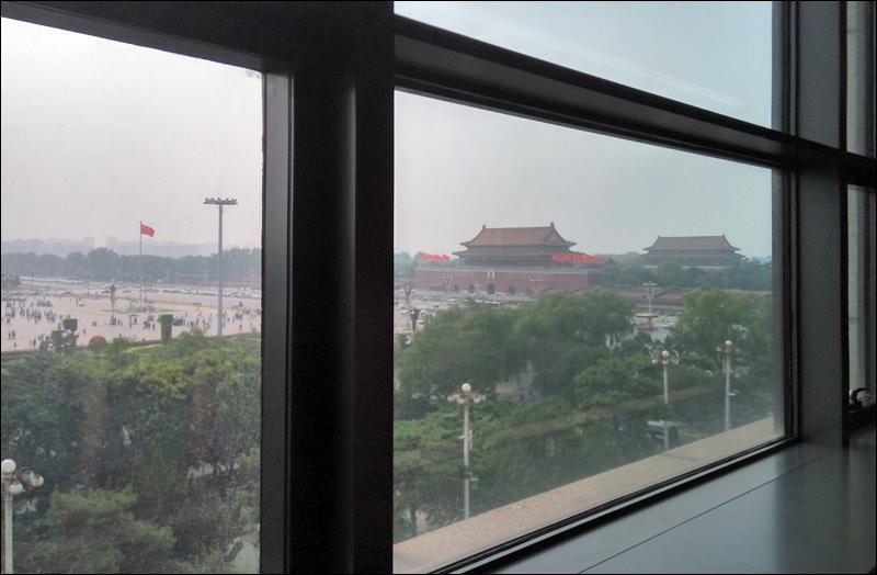 중국국가박물관 창문 너머로 보이는 자금성